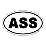 ASS Euro Oval Sticker