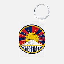 Free Tibet Grunge Keychains