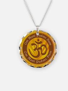 Tibetan Mantra Om Symbol Necklace