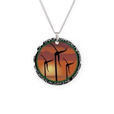 Green in Greene Skystream Necklace Circle Charm