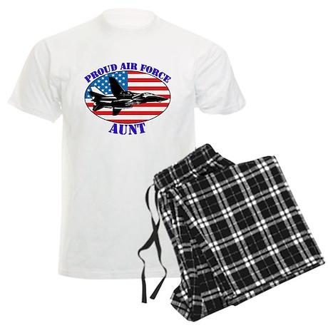 Proud Air Force Aunt Men's Light Pajamas