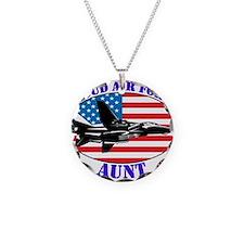 Proud Air Force Aunt Necklace