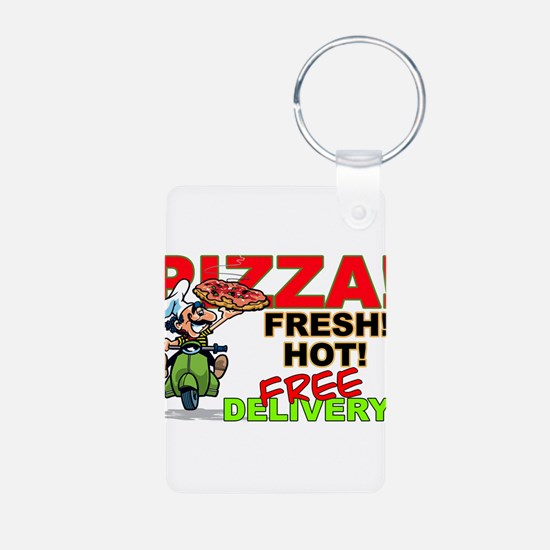Pizza Sign Keychains