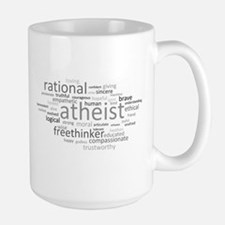 Atheism Cloud Large Mug