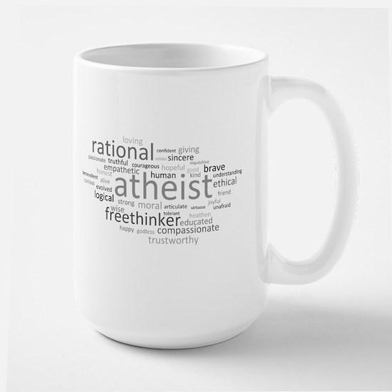 Atheism Cloud Large Mug