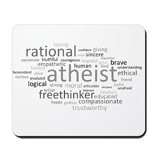 Atheism Cloud Mousepad