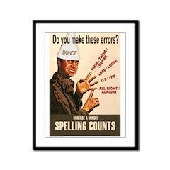 Spelling Counts! Framed Panel Print