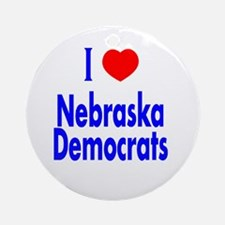 I Love Nebraska Democrats Ornament (Round)