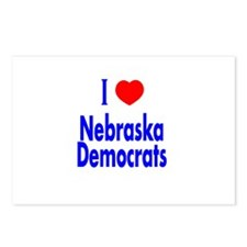 I Love Nebraska Democrats Postcards (Package of 8)