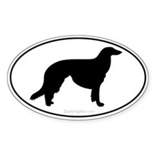 Borzoi Euro Decal