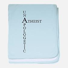 Unapologetic Atheist baby blanket