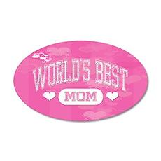 Best Mom 38.5 x 24.5 Oval Wall Peel