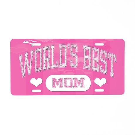 Best Mom Aluminum License Plate