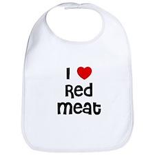 I * Red Meat Bib