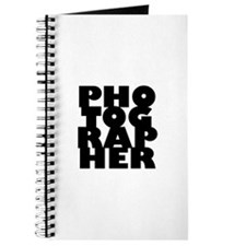 photographer (black) Journal