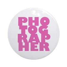 photographer (pink) Ornament (Round)