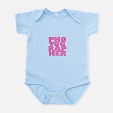 photographer (pink) Infant Bodysuit