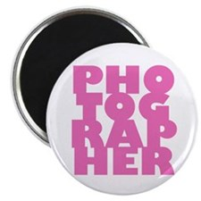 "photographer (pink) 2.25"" Magnet (10 pack)"
