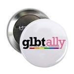 GLBT Ally White Button