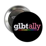 GLBT Ally Black Button