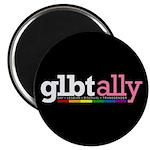 GLBT Ally Black Magnet