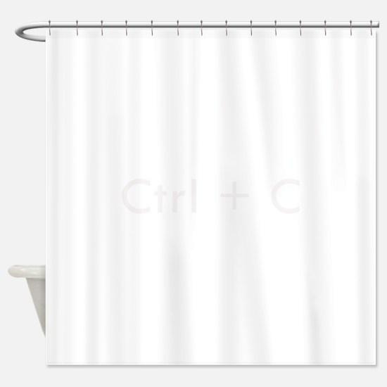 Ctrl + C Shower Curtain