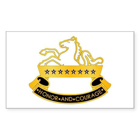 8th Cavalry Rectangle Sticker