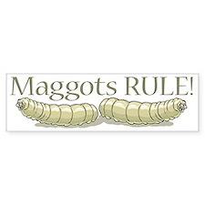 Maggots Rule Bumper Car Sticker