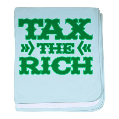 TAX THE RICH baby blanket