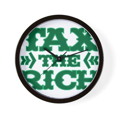 TAX THE RICH Wall Clock