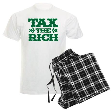 TAX THE RICH Men's Light Pajamas
