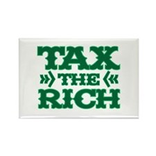 TAX THE RICH Rectangle Magnet