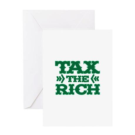 TAX THE RICH Greeting Card