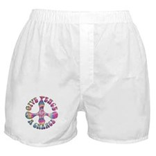Give Peace Boxer Shorts