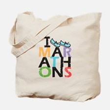I Run Marathons Tote Bag