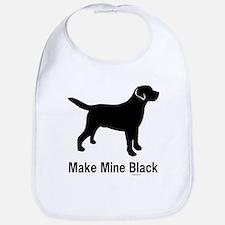 Make Mine Black Bib