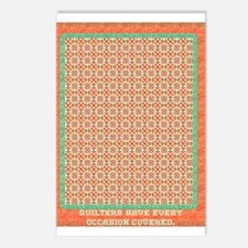 Country Christmas Quilter Cov Postcards (Package o