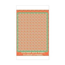 Country Christmas Quilter Cov Sticker (Rectangular