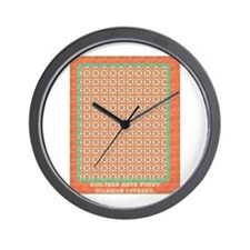 Country Christmas Quilter Cov Wall Clock