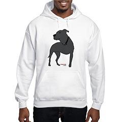 Tripawds Front Leg Pit Bull Hooded Sweatshirt