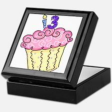 13th Birthday Cupcake Keepsake Box