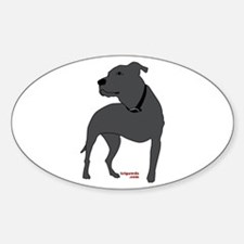 Tripawds Front Leg Pit Bull Sticker (Oval)