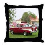 57 chevy Throw Pillows