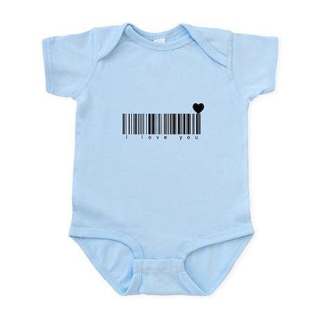 Bar Code I Love You Infant Bodysuit
