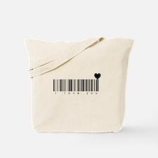 Bar Code I Love You Tote Bag