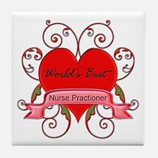 Cute Nursing student Tile Coaster