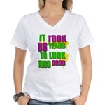 It took 86 years to look this Women's V-Neck T-Shi