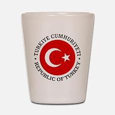 Turkey (rd) Shot Glass