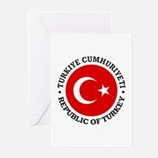 Turkey (rd) Greeting Cards