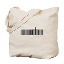 Bar Code Jesus Saves Tote Bag